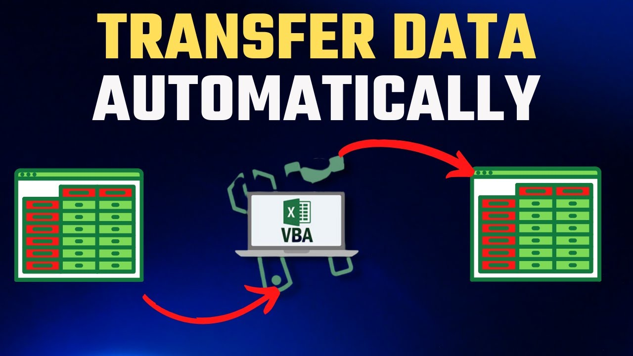 How To Utom Tic Lly Tr Nsfer D T From E Excel W Ksheet To