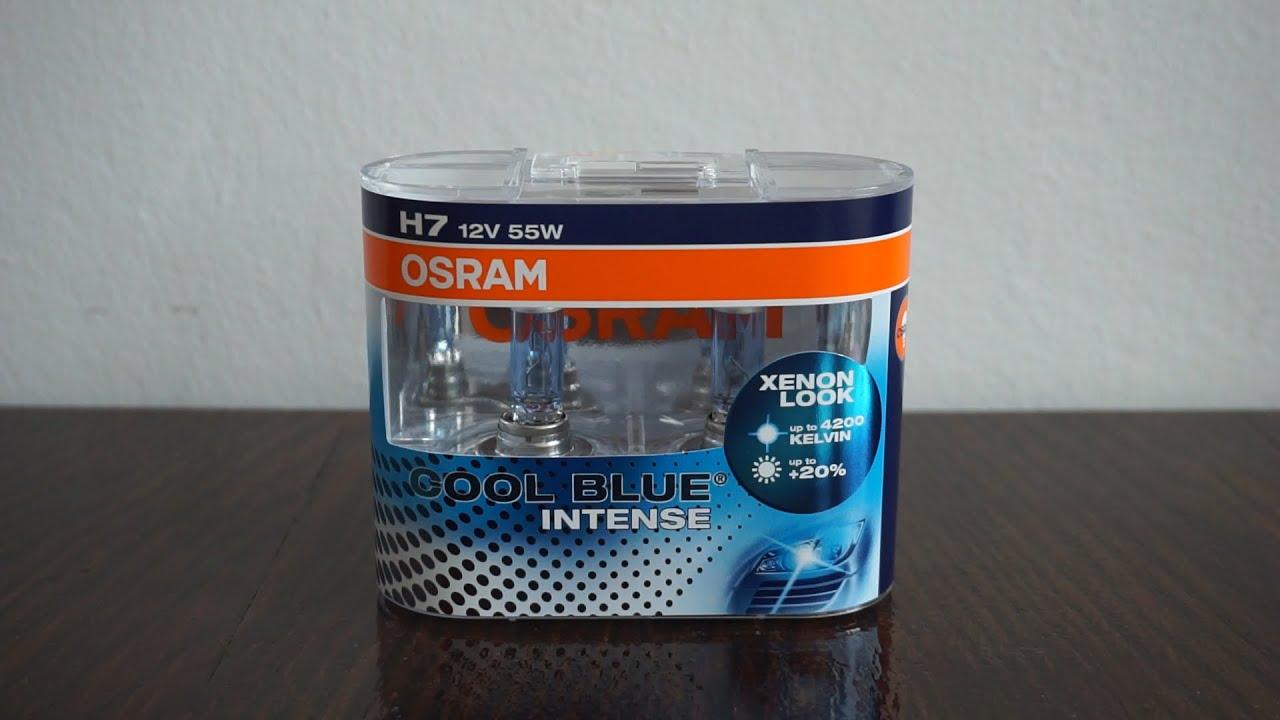 Osram 64193CBI-HCB Halogène Projecteur Ampoule H4 12 V Cool Blue Intense 60//55W