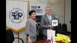 UTP firma Convenio con la Universidad de Trent, Canadá