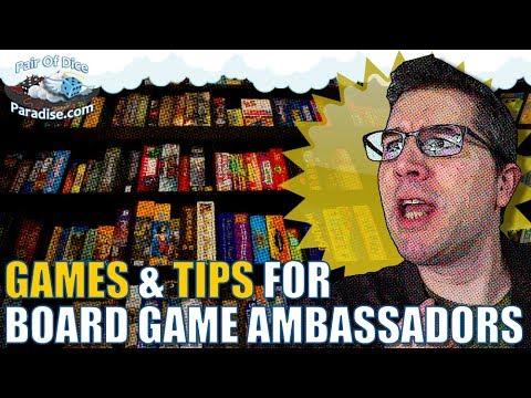 Games & Tips For Board Game Ambassadors (TABLEscraps #22)