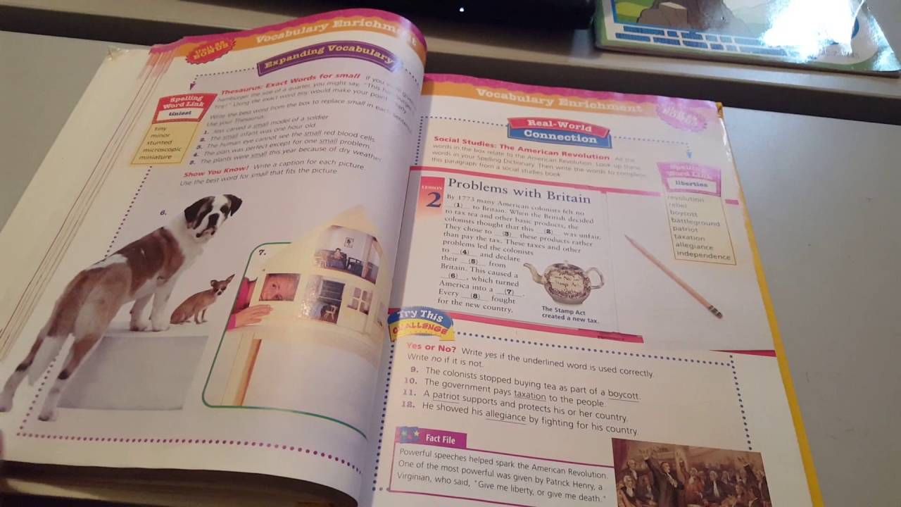 Inside Houghton Mifflin Spelling And Vocabulary Grade 5