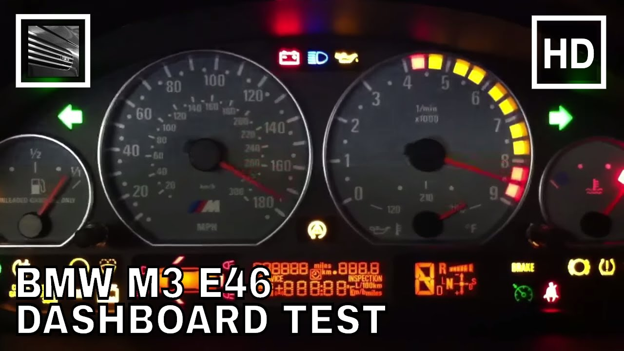 Bmw M3 E46 Dashboard Test Youtube