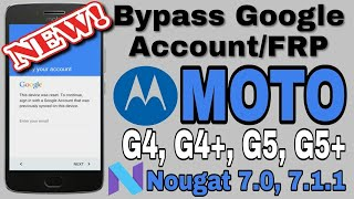 How To Bypass Google Account Moto G4 Nougat 7 1 1 2018