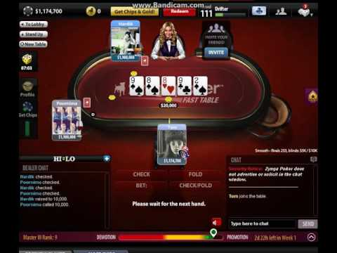 zynga poker jump from level 104 to 111 in seconds - YouTube