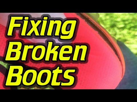 How to fix broken football boots