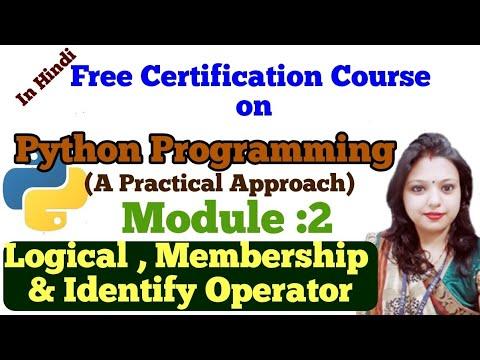 L10: Python Programming |Tutorial | Operators in Python|Logical , Membership and Identity Operator thumbnail