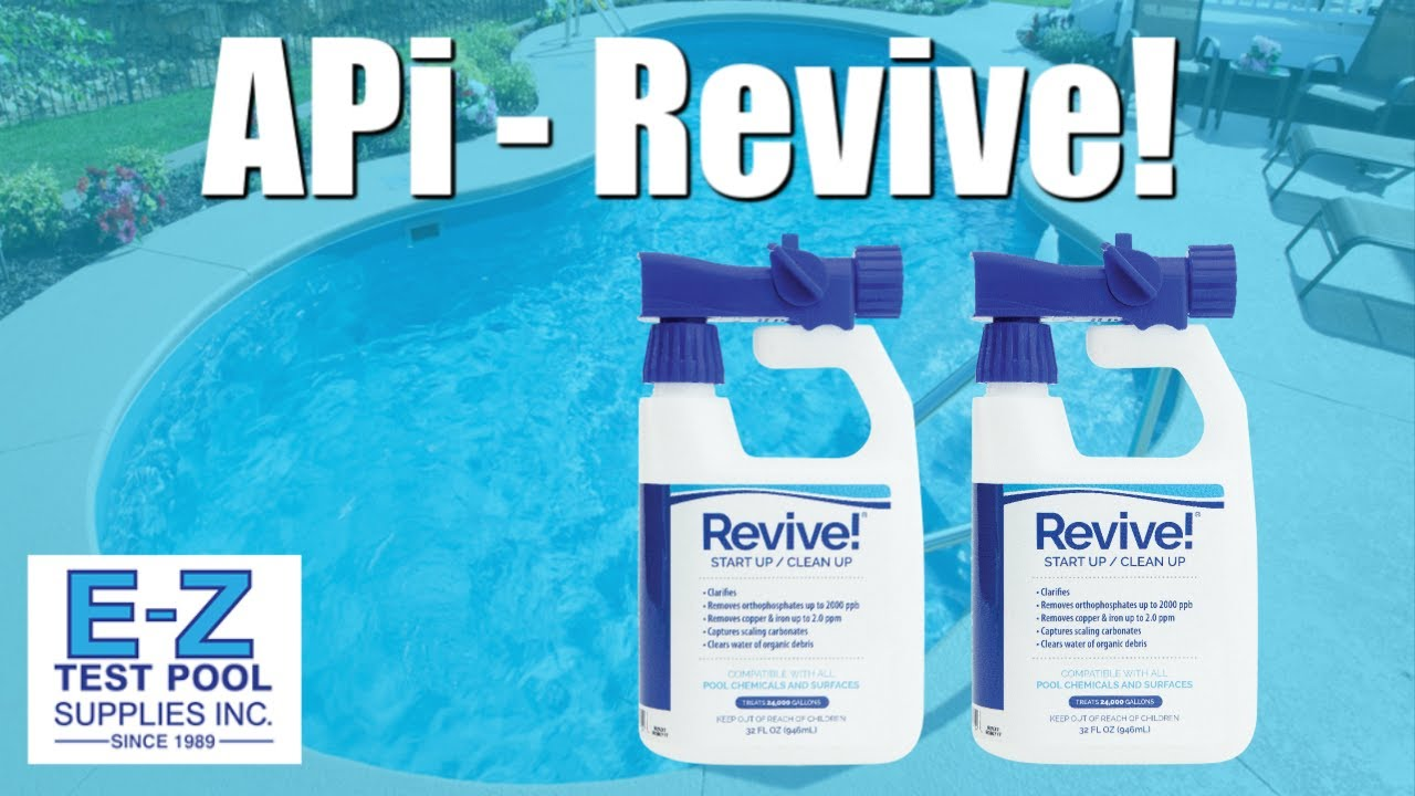 Revive Swimming Pool Phosphate And Algae Remover From Api Youtube