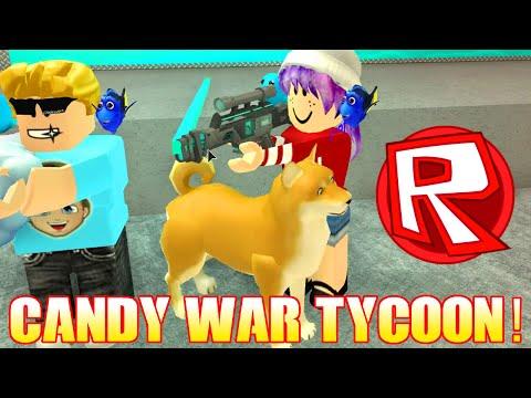 ROBLOX CANDY WAR TYCOON   RADIOJH GAMES & GAMER CHAD