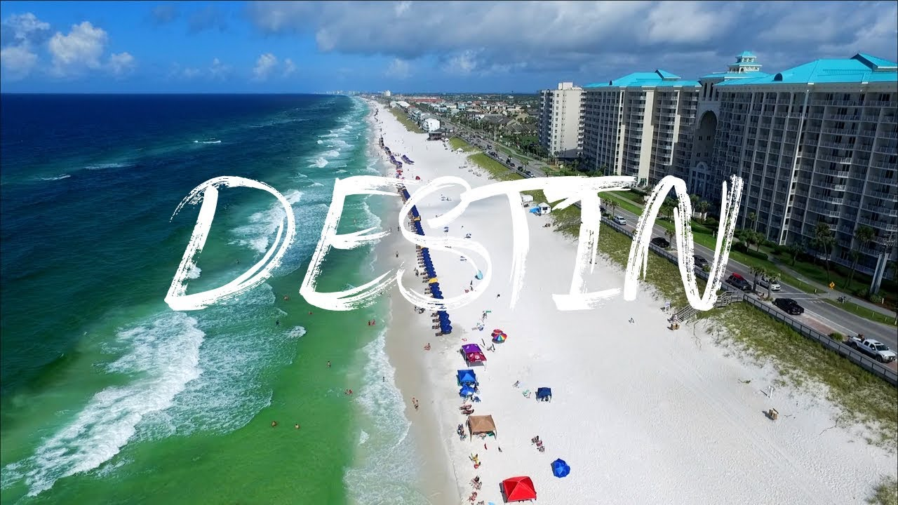 Destin Miramar Beach Florida By Drone