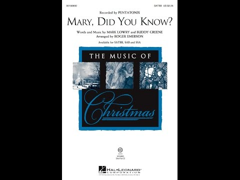Mary, Did You Know? (SATBB) - Arranged by Roger Emerson