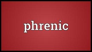 Phrenic Meaning