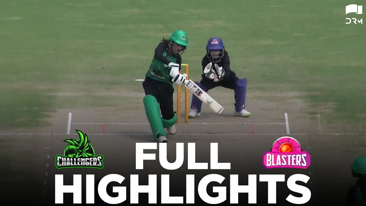 Full Highlights   Blasters vs Challengers   Pakistan Cup Women's One-Day 2021   PCB   MA2T
