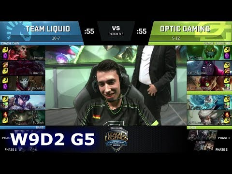 Team Liquid vs OpTic Gaming | Week 9 Day 2 of S8 NA LCS Spring 2018 | TL vs OPT W9D2 G5