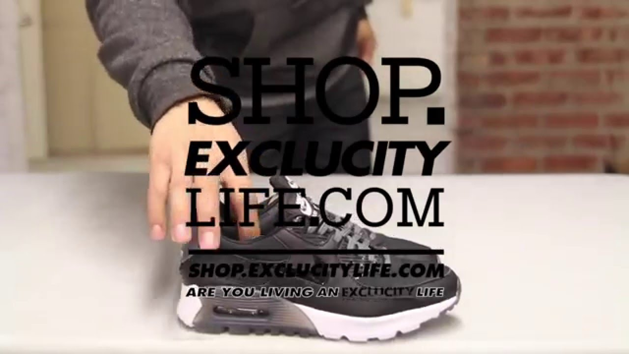 Women s Air Max 90 Ultra Essential Black - White Unboxing Video at Exlcucity 7d7fcb523