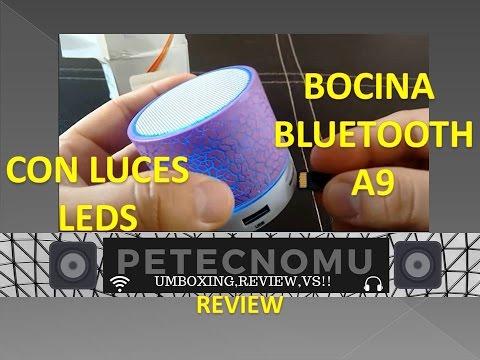 BOCINA BLUETOOTH A9 CON LUCES LEDS