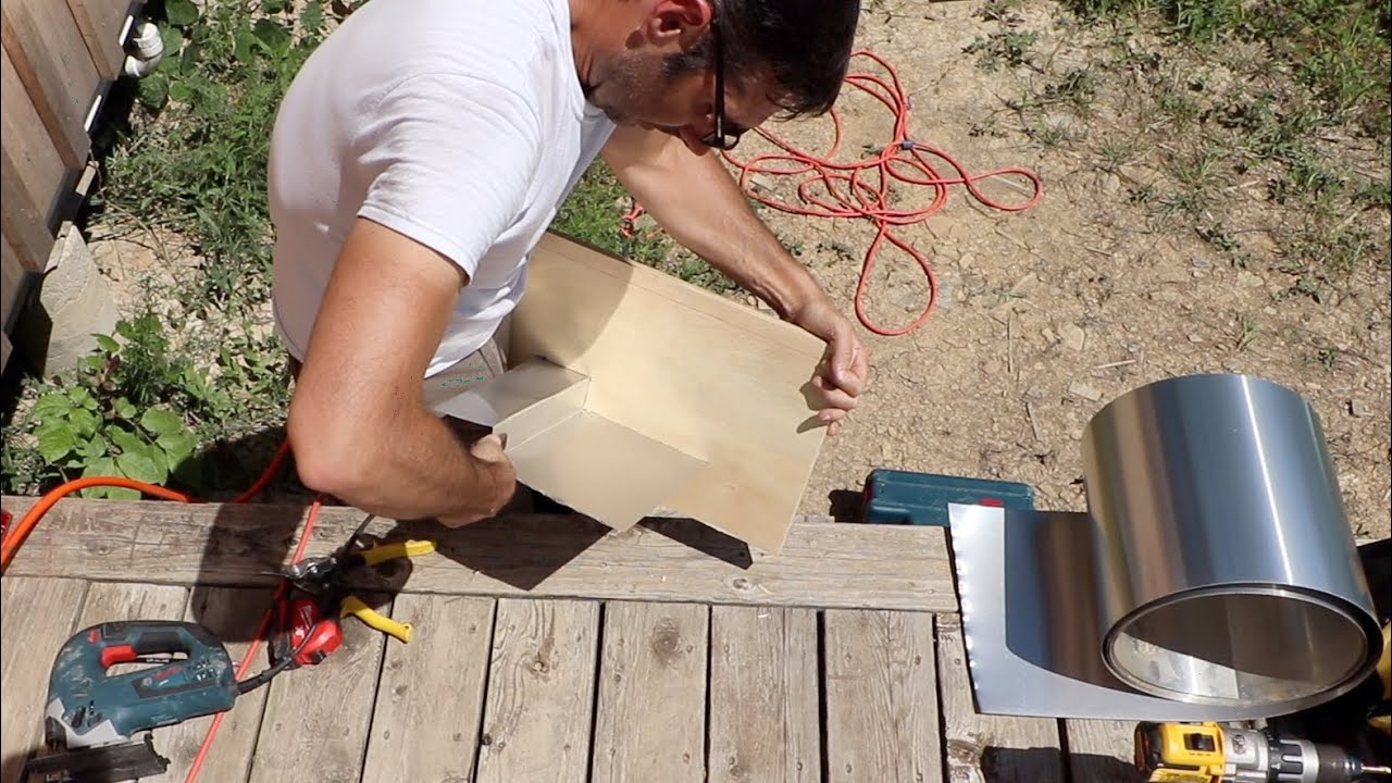 Metal Flashing Hack | Working on the East Gable End of our Remote off Grid Cabin