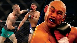 Top 5 Most Vicious Boxing and UFC Knockouts Of 2016 - Conor McGregor, Canelo Alvarez and More