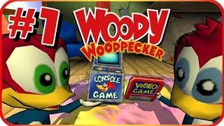 Woody Woodpecker: Escape from Buzz Buzzard Park Walkthrough Part 1 (PS2, PC) Level 1 - Space Part A