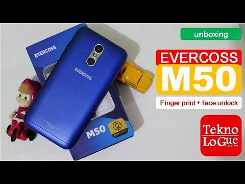 Evercoss M50 [unboxing] - Fingerprint dan Face Unlock Termurah