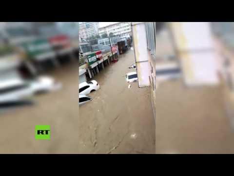 RT en Español: Grandes inundaciones en el centro de China