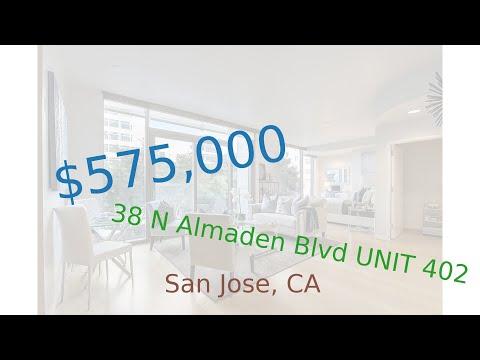 $575,000 San Jose home for sale on 2020-09-16 (38 N Almaden Blvd UNIT 402, CA, 95110)