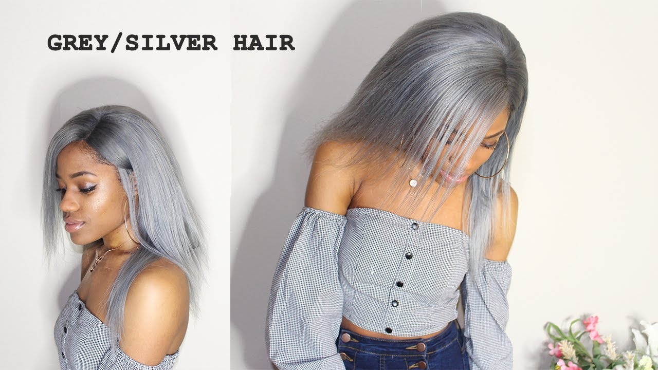 HOW TO DYE HAIR GREY/SILVER FROM 613 (NO BLEACH, DETAILED TUTORIAL ...