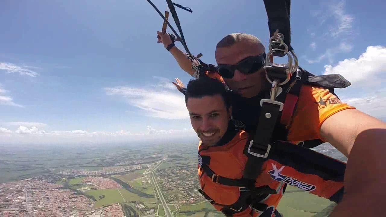 Salto de Paraquedas do Andre M na Queda Livre Paraquedismo 29 01 2017