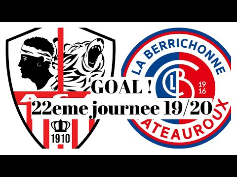 AC Ajaccio Chateauroux Goals And Highlights