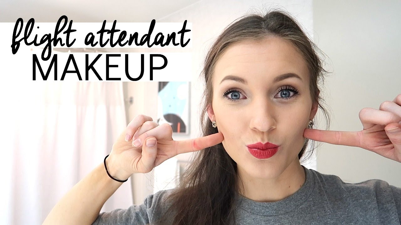 flight attendant makeup and shoes | flight attendant life | vlog