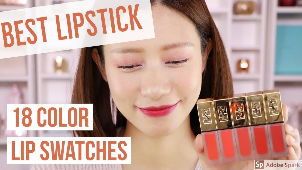 Ysl新款哑光唇釉18色全试色💄 Ysl Tatouage Couture Liquid Matte Lip