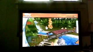 First lets play of go play lumberjacks for the wii