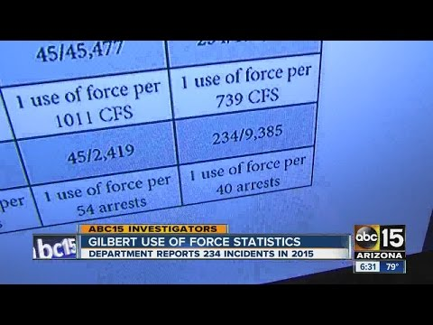 ABC15 investigates Gilbert PD's use of force stats