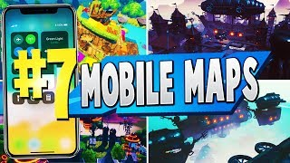 TOP 7 BEST MOBILE MAPS In Fortnite | Fortnite Mobile Map CODES