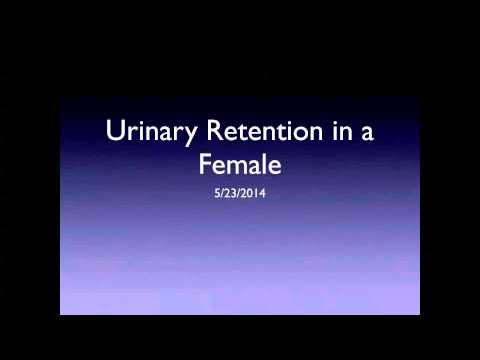 Urinary retention in a young female