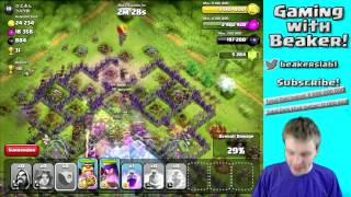 Clash of Clans: Amazing Attack Strategy - MAX Valk & Wizard!