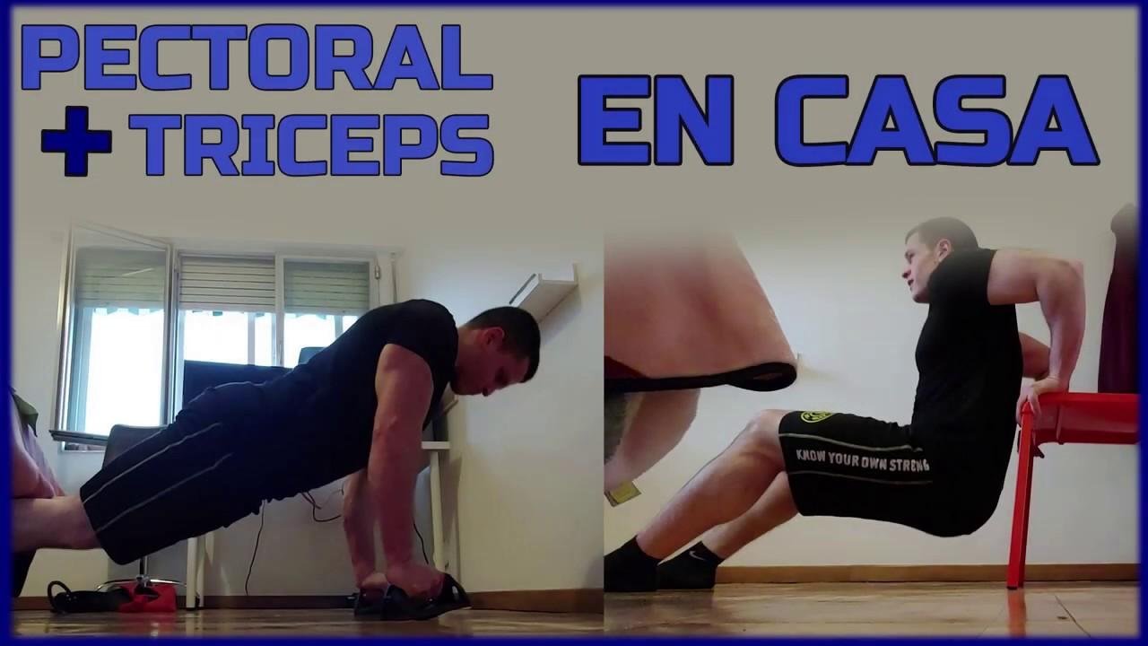 Entrenamiento De Pecho Y Triceps En Casa Con Peso Corporal Y Bandas De Resistencia Youtube