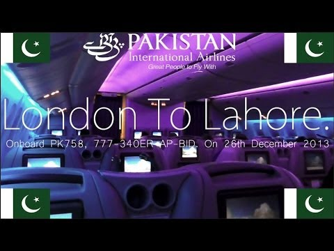 ✈FLIGHT REPORT✈ PIA, Pakistan International Airlines, London to Lahore Boeing 777-340ER, PK758