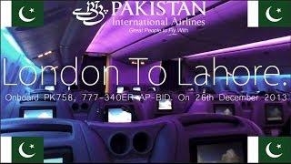 ✈FLIGHT REPORT✈ PIA, Pakistan International Airlines, London to Lahore Boeing 777-340ER, PK758