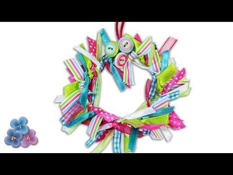 Adornos de navidad corona de cintas facil adornos - Adornos para navidad 2015 ...