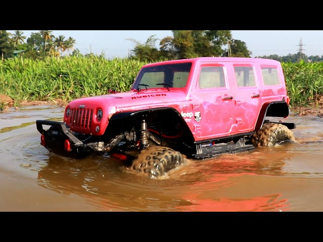 RC Car Water Off Road Adventure - Traxxas Jeep Wrangler 4x4