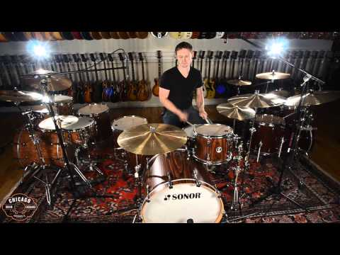 Sonor S Classix Rock Kit in Rosewood with Dream Contact Series Cymbals