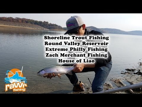 Rainbow Trout Fishing On Shorelines Of Round Valley Reservoir - Ft Extreme Philly Fishing And More