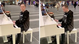 Boy Plays Queen On Train Station Piano