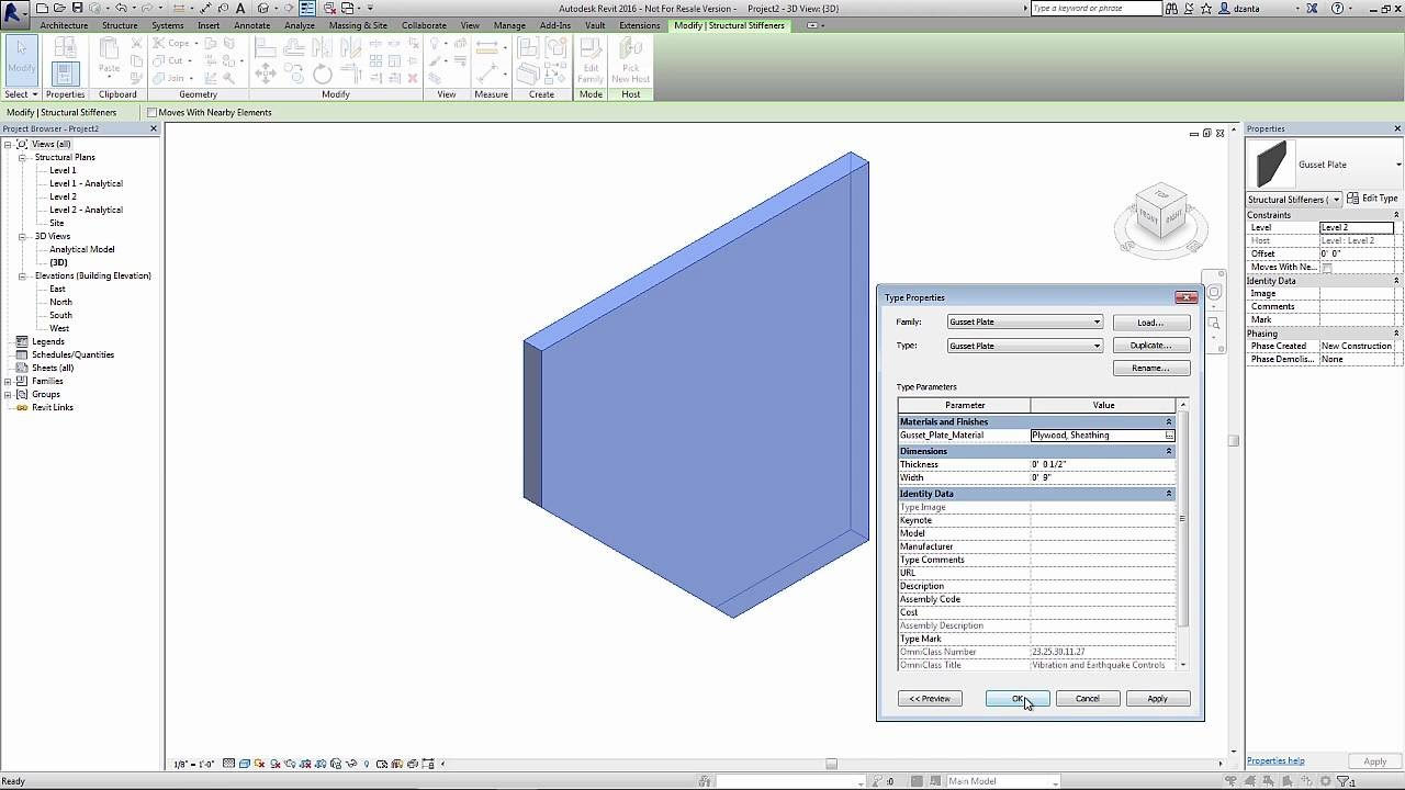 Apply Material and Visibility Parameters in Revit