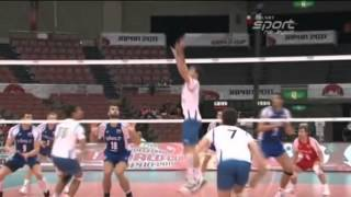 Волейбол. Нападающий удар и скидка мяча (подборка)