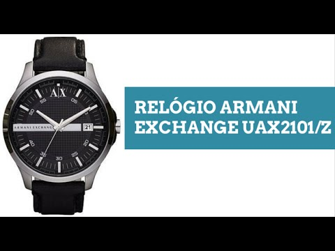 d7f5a33d6fa Relogio Armani Exchange UAX2101Z - YouTube
