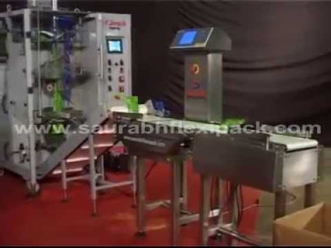 pouch packaging machine for Free flowing fine powders.