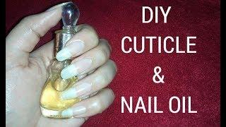 DIY Cuticle and nail oil for healthy nails