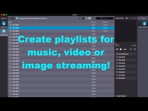 How to create various playlists for music,video or image streaming