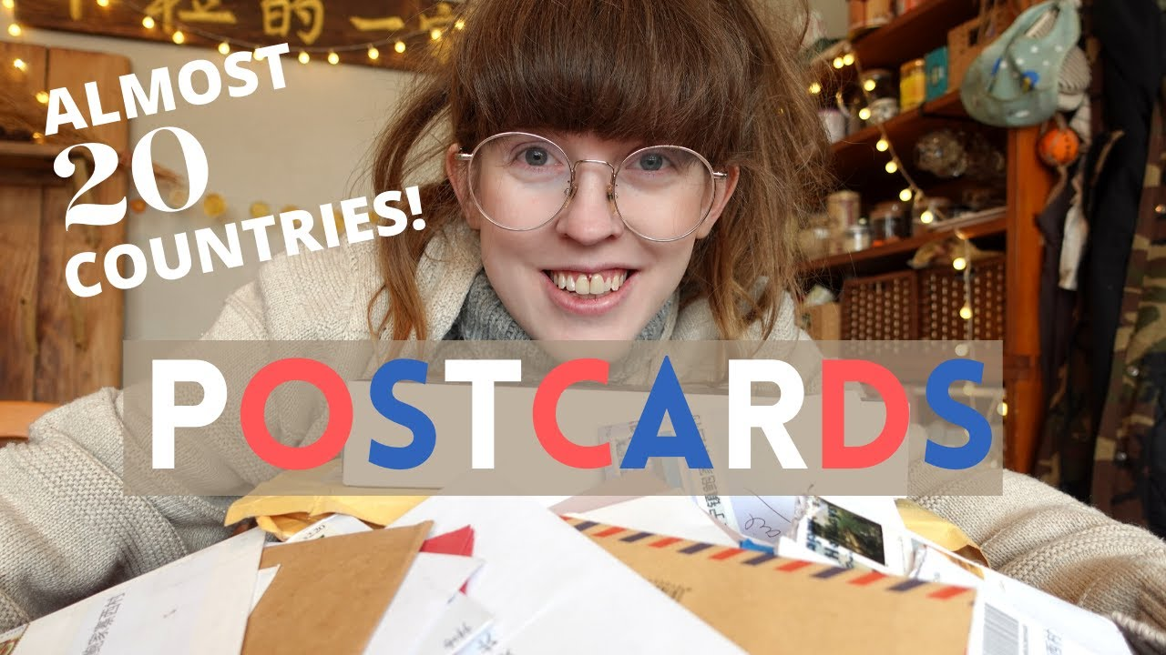 I Got Postcards From all over the World! And here's the giftbox winner!